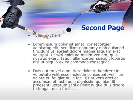 Ice Hockey Duel PowerPoint Template, Slide 2, 00779, Sports — PoweredTemplate.com