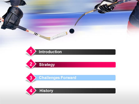 Ice Hockey Duel PowerPoint Template, Slide 3, 00779, Sports — PoweredTemplate.com