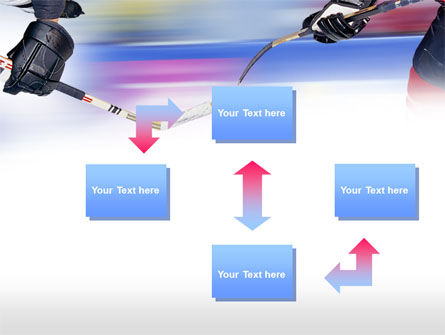 Ice Hockey Duel PowerPoint Template, Slide 4, 00779, Sports — PoweredTemplate.com