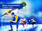 Sports: Race Skating Track PowerPoint Template #00780