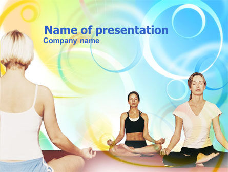 Sports: Yoga Meditation PowerPoint Template #00781