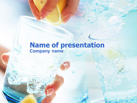 Food & Beverage: Lemonade PowerPoint Template #00782