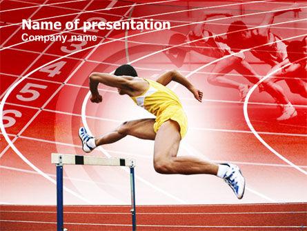 Hurdling PowerPoint Template, 00783, Sports — PoweredTemplate.com