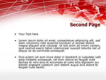Hurdling PowerPoint Template, Slide 2, 00783, Sports — PoweredTemplate.com
