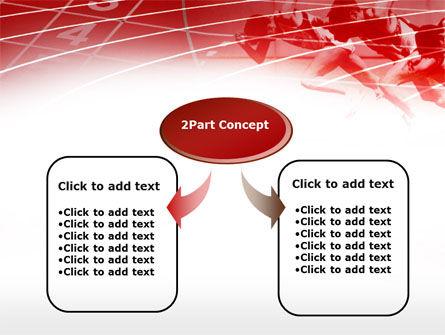 Hurdling PowerPoint Template, Slide 4, 00783, Sports — PoweredTemplate.com