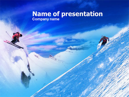 Ski Slope PowerPoint Template, 00784, Sports — PoweredTemplate.com