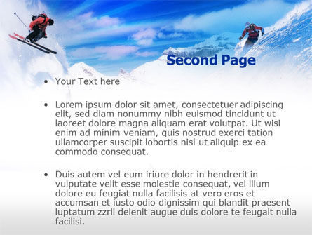 Ski Slope PowerPoint Template, Slide 2, 00784, Sports — PoweredTemplate.com