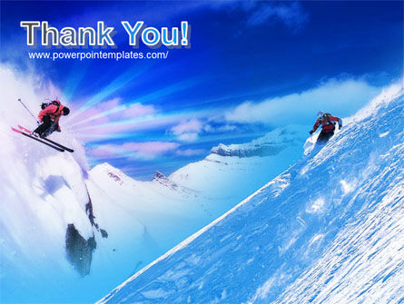 Ski Slope PowerPoint Template Slide 20
