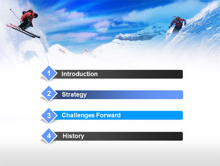 Ski Slope PowerPoint Template, Slide 3, 00784, Sports — PoweredTemplate.com