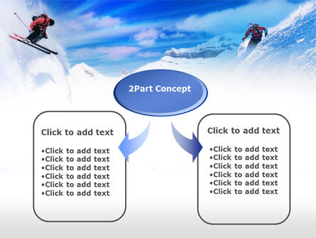 Ski Slope PowerPoint Template, Slide 4, 00784, Sports — PoweredTemplate.com