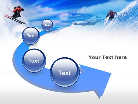 Ski Slope PowerPoint Template Slide 6