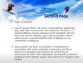 Ski Slope PowerPoint Template#2