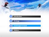 Ski Slope PowerPoint Template#3