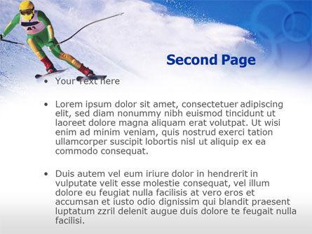 Skier PowerPoint Template, Slide 2, 00785, Sports — PoweredTemplate.com