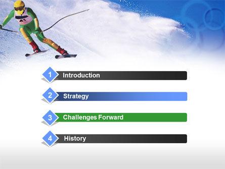 Skier PowerPoint Template, Slide 3, 00785, Sports — PoweredTemplate.com