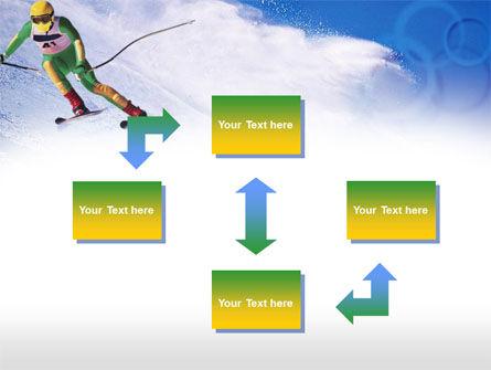 Skier PowerPoint Template, Slide 4, 00785, Sports — PoweredTemplate.com