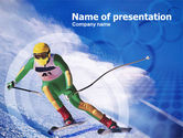 Sports: Skier PowerPoint Template #00785
