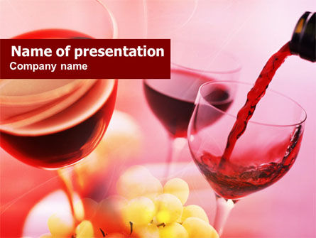 Food & Beverage: Wijn Proeven PowerPoint Template #00787