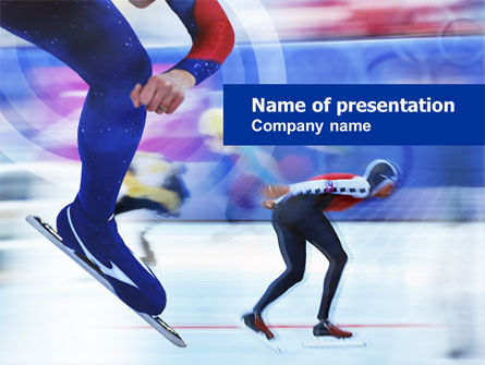 Sports: Speed Skating Competition PowerPoint Template #00788