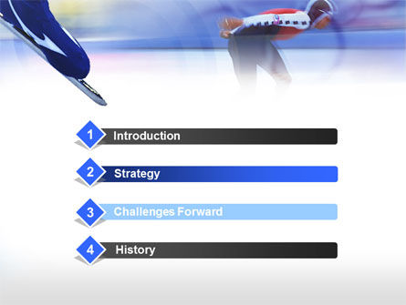Speed Skating Competition PowerPoint Template Slide 3
