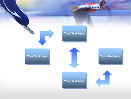 Speed Skating Competition PowerPoint Template, Slide 4, 00788, Sports — PoweredTemplate.com