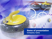 Sports: Curling PowerPoint Template #00789