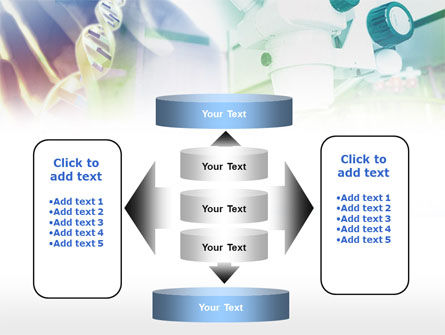 Microscope In DNA Research PowerPoint Template Slide 13