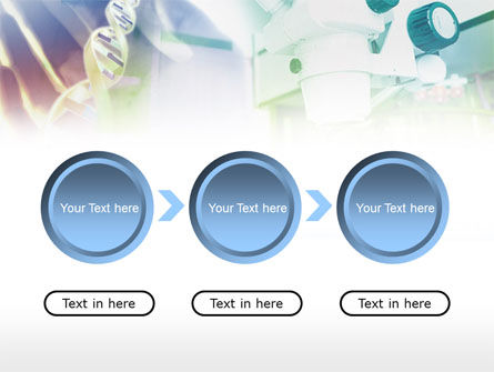 Microscope In DNA Research PowerPoint Template Slide 16