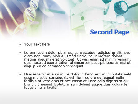 Microscope In DNA Research PowerPoint Template, Slide 2, 00791, Medical — PoweredTemplate.com