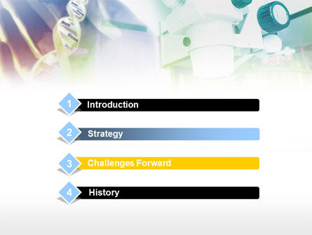 Microscope In DNA Research PowerPoint Template, Slide 3, 00791, Medical — PoweredTemplate.com