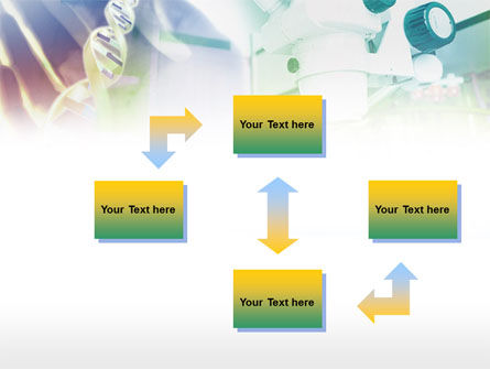Microscope In DNA Research PowerPoint Template, Slide 4, 00791, Medical — PoweredTemplate.com