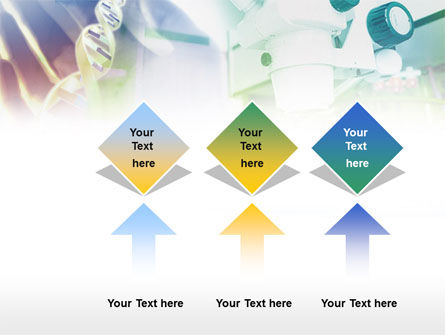 Microscope In DNA Research PowerPoint Template Slide 5