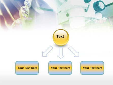 Microscope In DNA Research PowerPoint Template Slide 8
