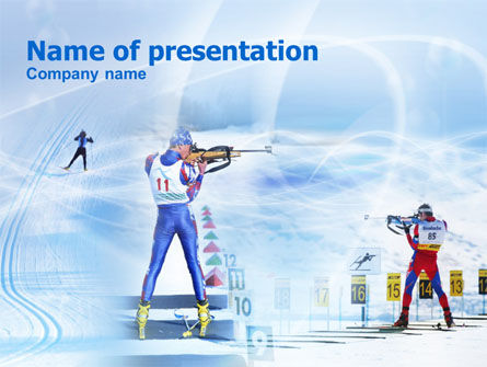 Sports: Biathlon PowerPoint Template #00792