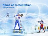 Sports: Biathlon PowerPoint Template #00792