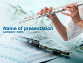 Art & Entertainment: Flute PowerPoint Template #00793
