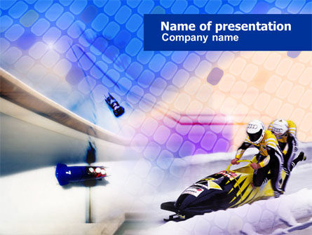 Sports: Bobsled PowerPoint Template #00795