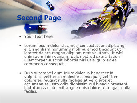 Bobsled PowerPoint Template, Slide 2, 00795, Sports — PoweredTemplate.com