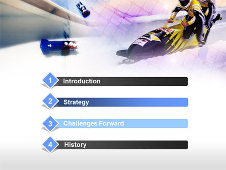 Bobsled PowerPoint Template, Slide 3, 00795, Sports — PoweredTemplate.com