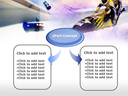 Bobsled PowerPoint Template, Slide 4, 00795, Sports — PoweredTemplate.com