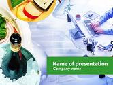 Food & Beverage: Modelo do PowerPoint - planejamento de eventos #00797