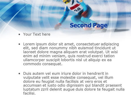 Speed Skiing PowerPoint Template, Slide 2, 00798, Sports — PoweredTemplate.com