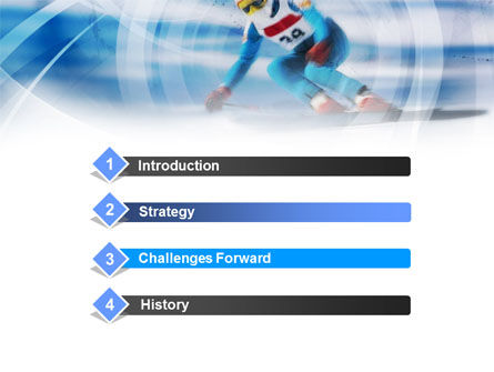 Speed Skiing PowerPoint Template Slide 3