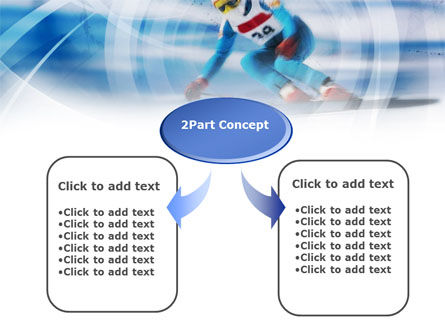 Speed Skiing PowerPoint Template, Slide 4, 00798, Sports — PoweredTemplate.com