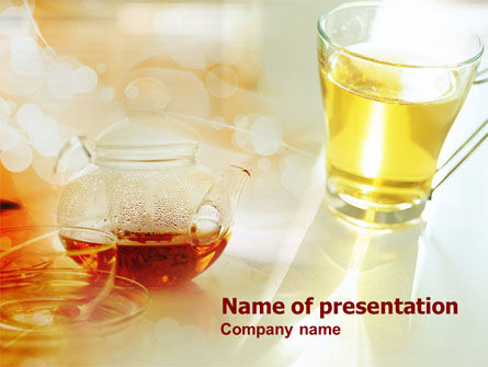 Tea Cup PowerPoint Template, 00801, Food & Beverage — PoweredTemplate.com