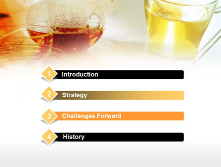Tea Cup PowerPoint Template, Slide 3, 00801, Food & Beverage — PoweredTemplate.com