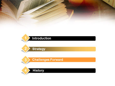 Open Book PowerPoint Template, Slide 3, 00802, Education & Training — PoweredTemplate.com