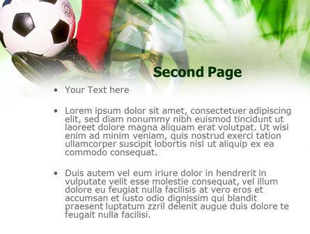 Soccer Kicking PowerPoint Template, Slide 2, 00805, Sports — PoweredTemplate.com