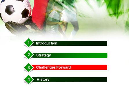 Soccer Kicking PowerPoint Template, Slide 3, 00805, Sports — PoweredTemplate.com