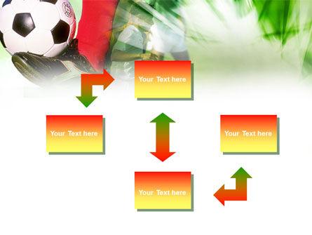 Soccer Kicking PowerPoint Template, Slide 4, 00805, Sports — PoweredTemplate.com
